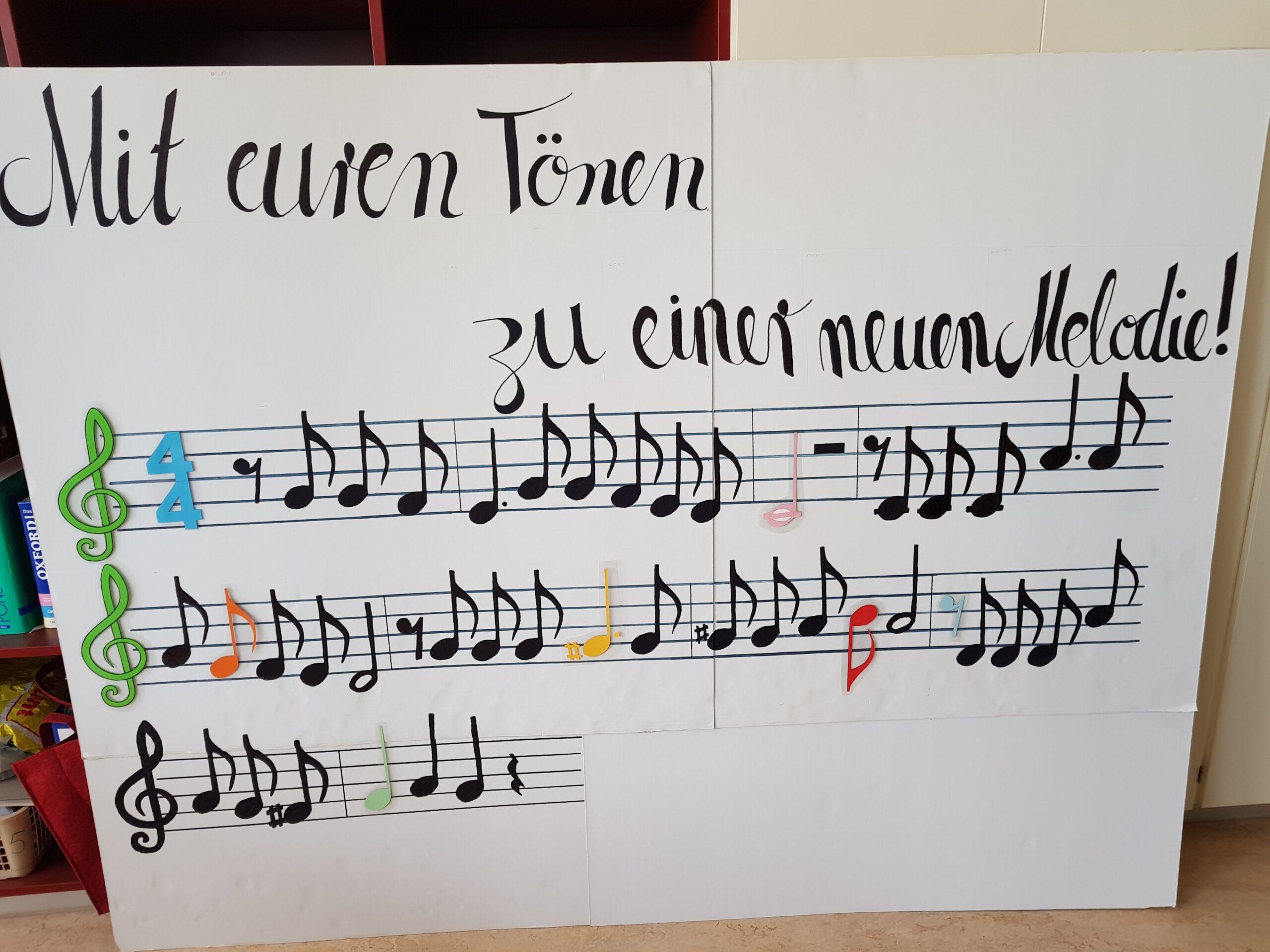Gottesdienst - Plakat Melodie